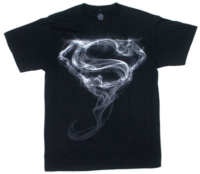 Superman Smoke Logo - DC Comics T-shirt