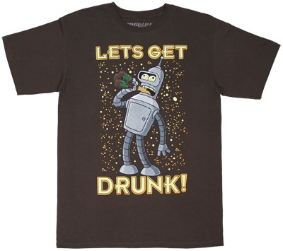 Let&#039;s Get Drunk! - Futurama Sheer T-shirt