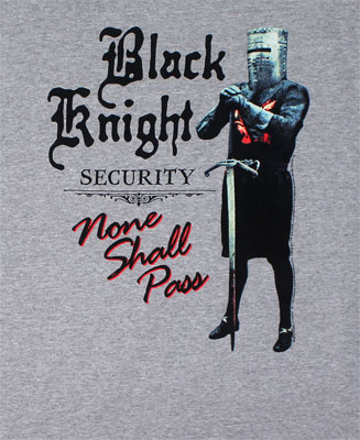 Black Knight Security - Monty Python T-shirt