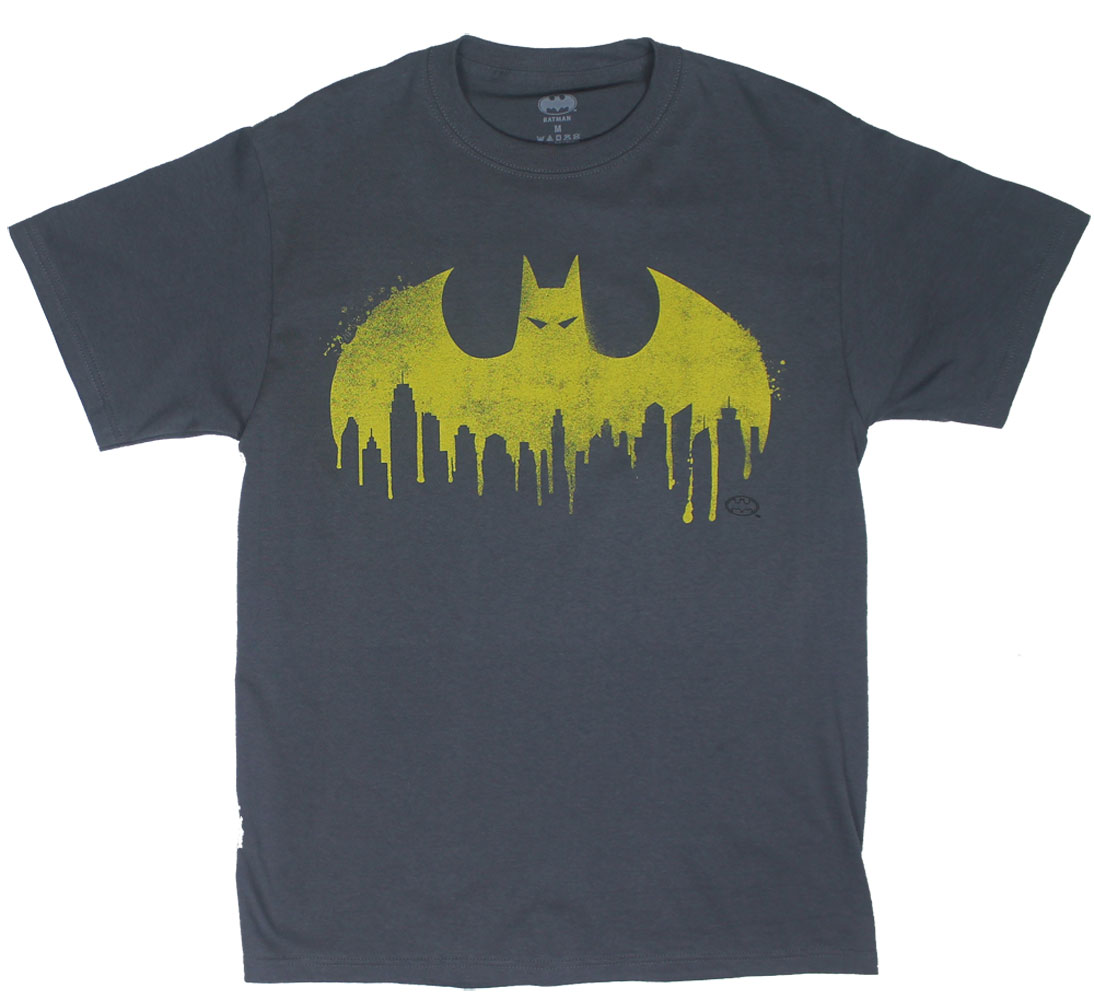 Batman City Spray Logo - DC Comics T-shirt
