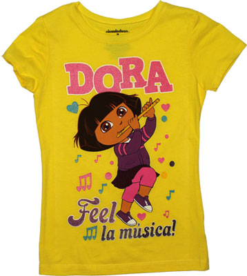 Feel La Musica! - Dora The Explorer Girls T-shirt