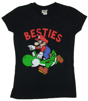 Besties - Mario - Nintendo Sheer Women&#039;s T-shirt