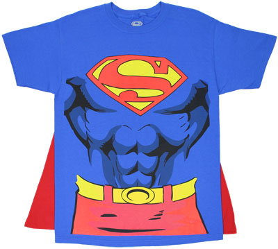 Superman Costume With Cape - DC Comics T-shirt