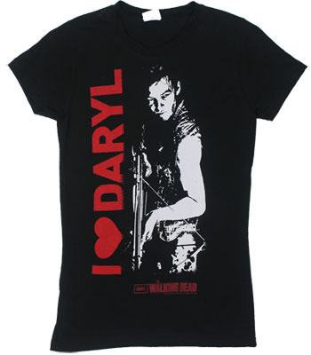I Heart Daryl - Walking Dead Sheer Women's T-shirt