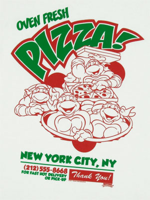 Oven Fresh Pizza - Teenage Mutant Ninja Turles T-shirt