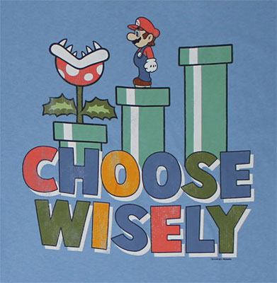 Choose Wisely - Mario - Nintendo T-shirt