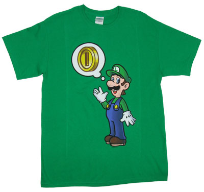 Coins On The Mind - Luigi - Nintendo T-shirt
