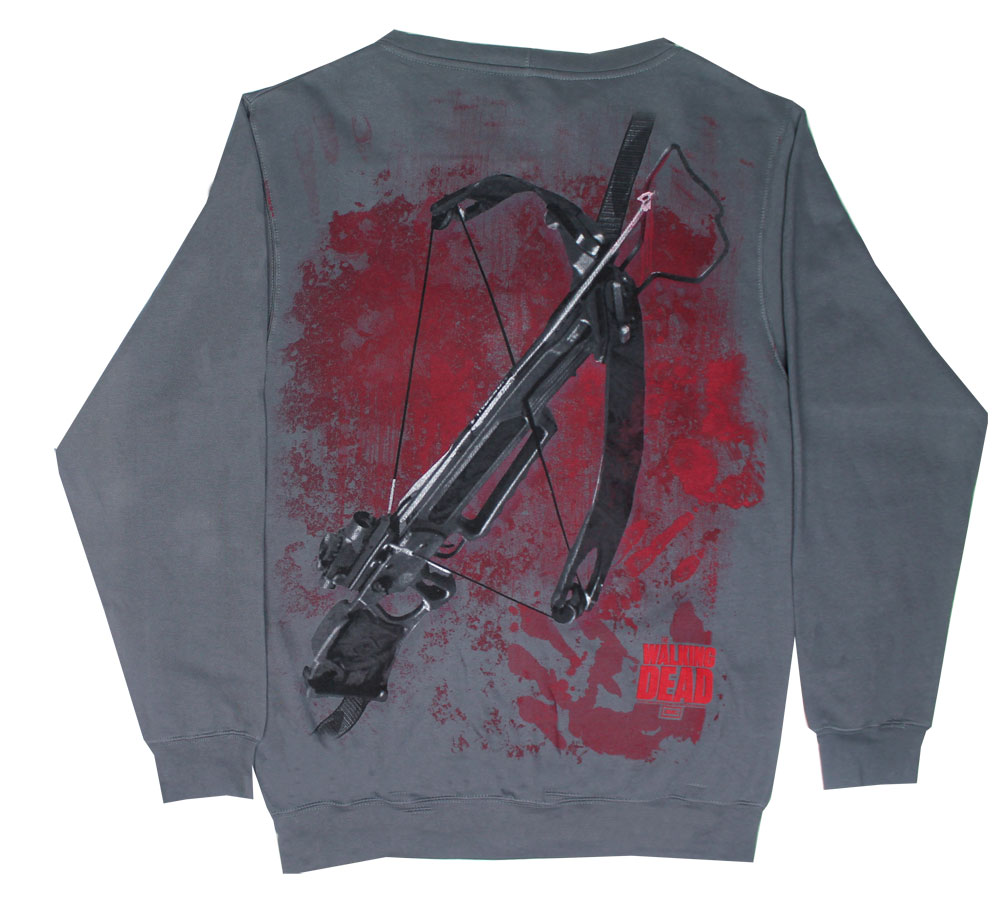 Crossbow Ears Hoodie - Walking Dead Hooded Sweatshirt