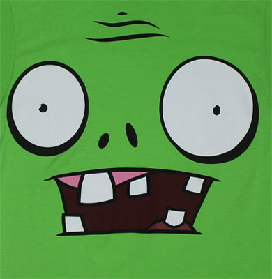 Zombie Face - Plants Vs. Zombies T-shirt
