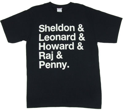 Sheldon & Leonard & Howard & Raj & Penny. - Big Bang Theory T-shirt