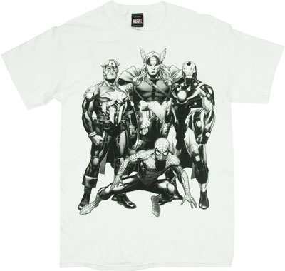 Heroes Blackline - Marvel Comics T-shirt