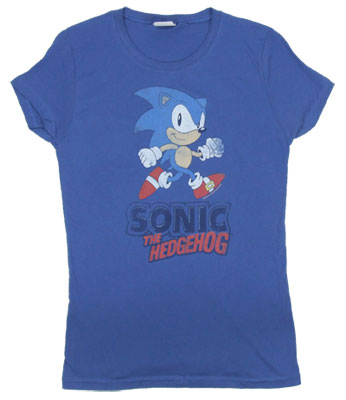 Classic Games - Sonic The Hedgehog Sheer Women&#039;s T-shirt