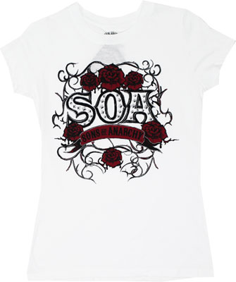 SOA Rose Vine - Sons Of Anarchy Sheer Women&#039;s T-shirt