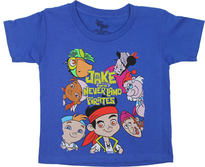 Jake And The Neverland Pirates Toddler T-shirt