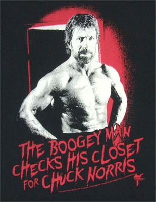 The Boogey Man Checks His Closet - Chuck Norris T-shirt