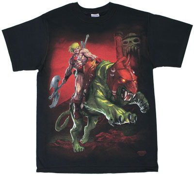 He-Man On Battle Cat - He-Man T-shirt
