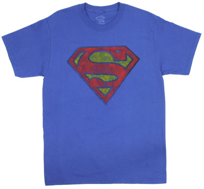 Faded Superman Logo - DC Comics T-shirt