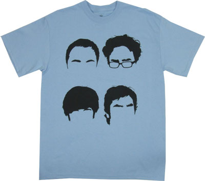 Four Hairlines - Big Bang Theory T-shirt