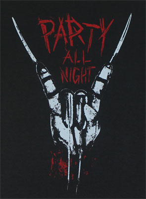 Party All Night - Nightmare On Elm Street T-shirt