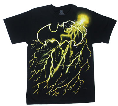 Batman Lightning Logo - DC Comics T-shirt
