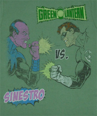Green Lantern Vs Sinestro - DC Comics T-shirt