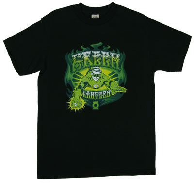 Green Lantern Flames - DC Comics T-shirt