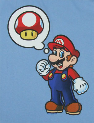 Mario Thinking Mushrooms - Nintendo T-shirt