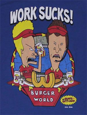 Work Sucks - Beavis And Butthead Sheer Women's T-shirt