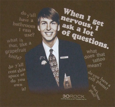 When I Get Nervous - 30 Rock T-shirt