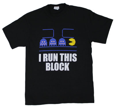 I Run This Block - Pac-Man T-shirt