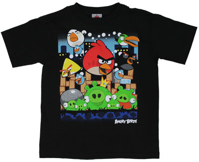 Angriest Attack - Angry Birds Juvenile T-shirt