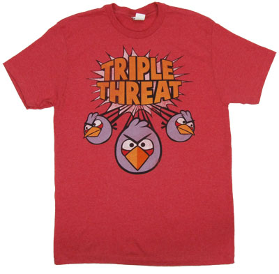 Triple Threat - Angry Birds T-shirt