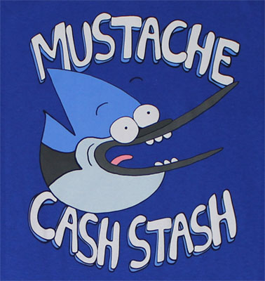 Mustache Cash Stash - Regular Show T-shirt