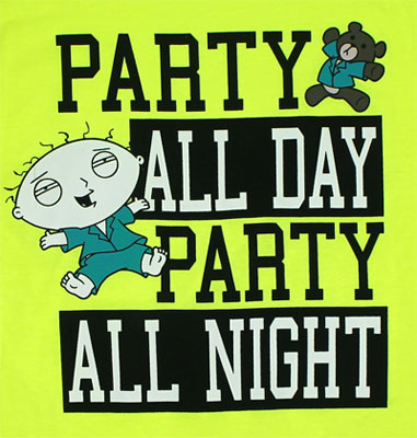Party All Day Party All Night - Family Guy T-shirt