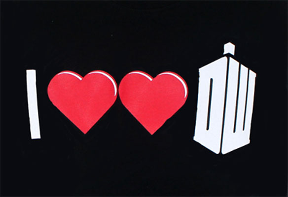 I Heart Heart Dr. Who - Dr. Who Juniors T-shirt