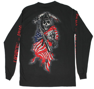 American Anarchy - Sons Of Anarchy Long Sleeve T-shirt