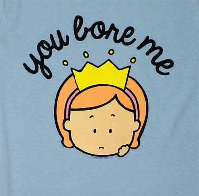 You Bore Me - Angry Little Girls Juniors T-shirt