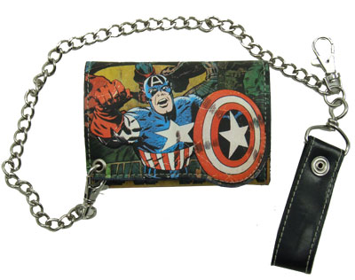 Captain America - Marvel Comics Chain Wallet