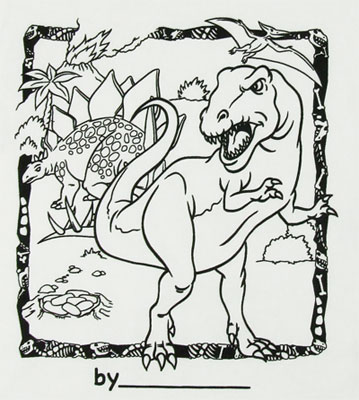 Dinosaurs - Color My Tee T-shirt