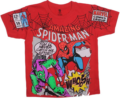 Spidey Vs. Goblin Comic - Marvel Comics Youth T-shirt