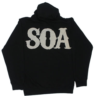 Large Muted Reaper - Sons Of Anarchy Hooded Sweatshirt