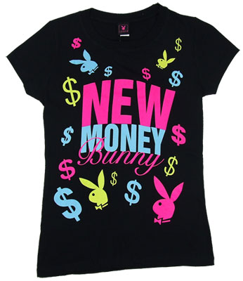 New Money Bunny - Playboy Sheer Women's T-shirt