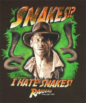 I Hate Snakes - Raiders Of The Lost Ark Sheer T-shirt