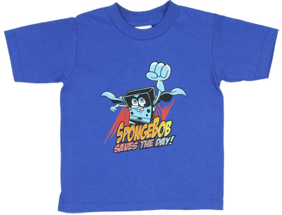 Spongebob Saves The Day! - Spongebob Squarepants Boys T-shirt