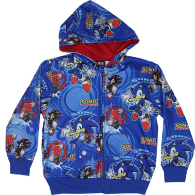 Sonic The Hedgehog Juvenile Zip Hooded Sweatshirt