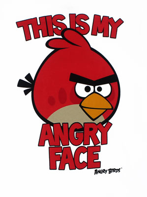 This Is My Angry Face - Angry Birds Youth T-shirt