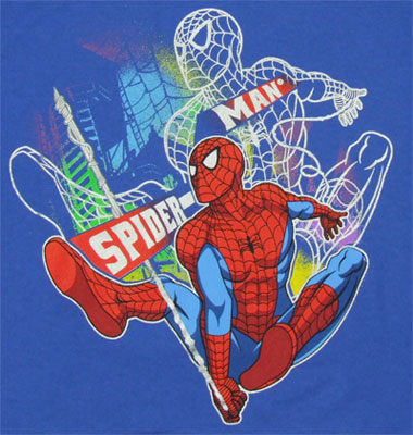 Glow The Night - Spider-Man - Marvel Comics Juvenile T-shirt