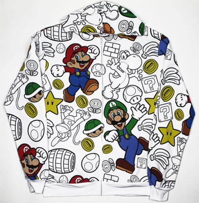 Super Mario Bros All Over - Nintendo Hooded Sweatshirt