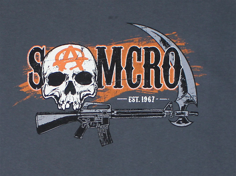 Samcro Circle Chain - Sons Of Anarchy T-shirt