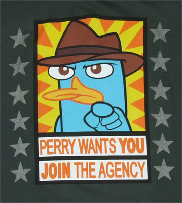 Perry Wants You - Phineas And Ferb T-shirt